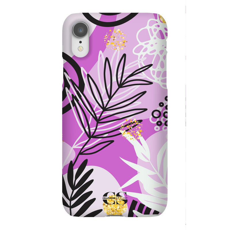 Floral Disco - Purple (iPhone) - Phone Case iPhone XR Snap Gloss - Cellphone Stylist