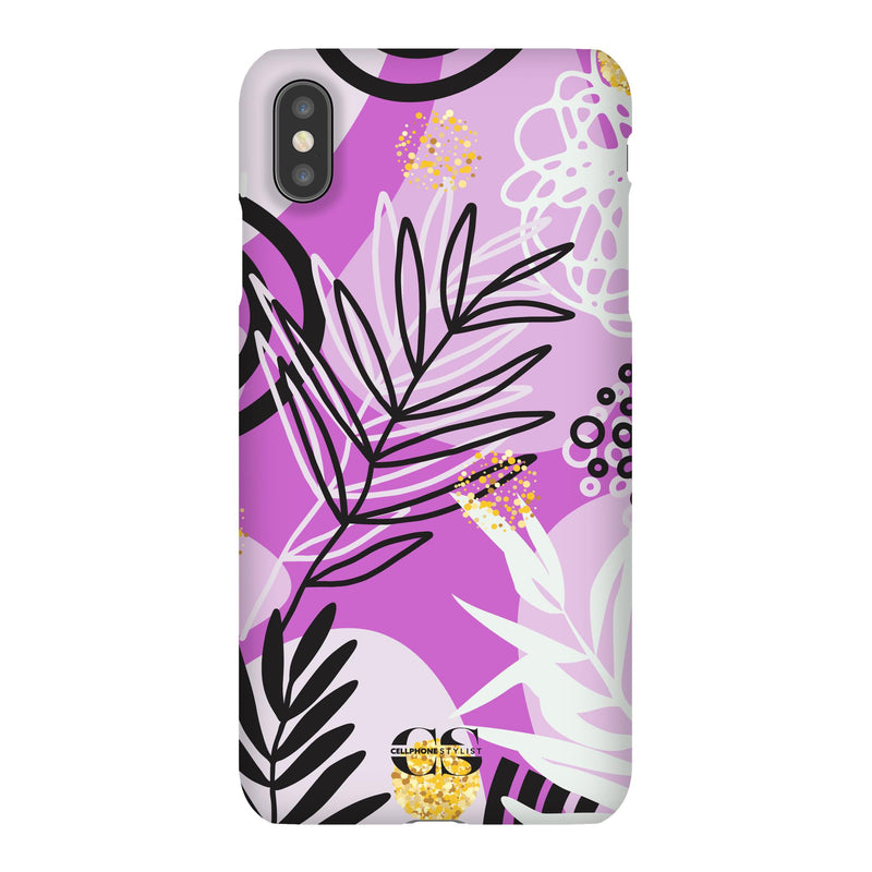 Floral Disco - Purple (iPhone) - Phone Case iPhone XS Max Snap Gloss - Cellphone Stylist