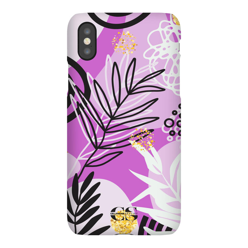 Floral Disco - Purple (iPhone) - Phone Case iPhone XS Snap Gloss - Cellphone Stylist