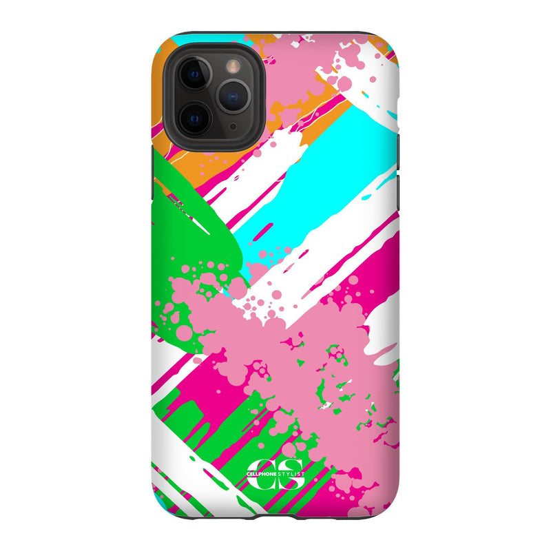 Graffiti Vibes - Bright (iPhone) - Phone Case iPhone 11 Pro Max Tough Matte - Cellphone Stylist