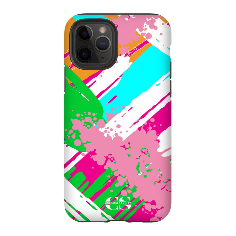 Graffiti Vibes - Bright (iPhone) - Phone Case iPhone 11 Pro Tough Matte - Cellphone Stylist