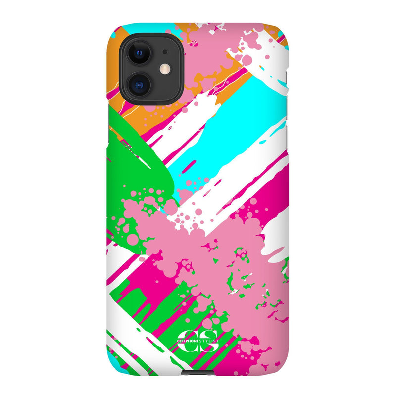 Graffiti Vibes - Bright (iPhone) - Phone Case iPhone 11 Snap Matte - Cellphone Stylist