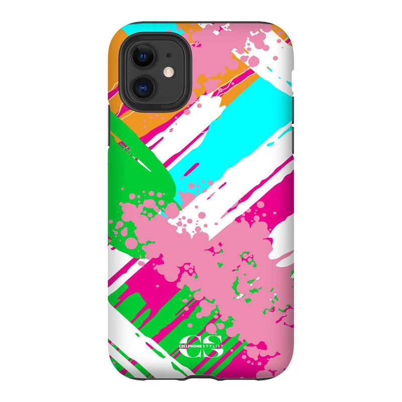Graffiti Vibes - Bright (iPhone) - Phone Case iPhone 11 Tough Matte - Cellphone Stylist