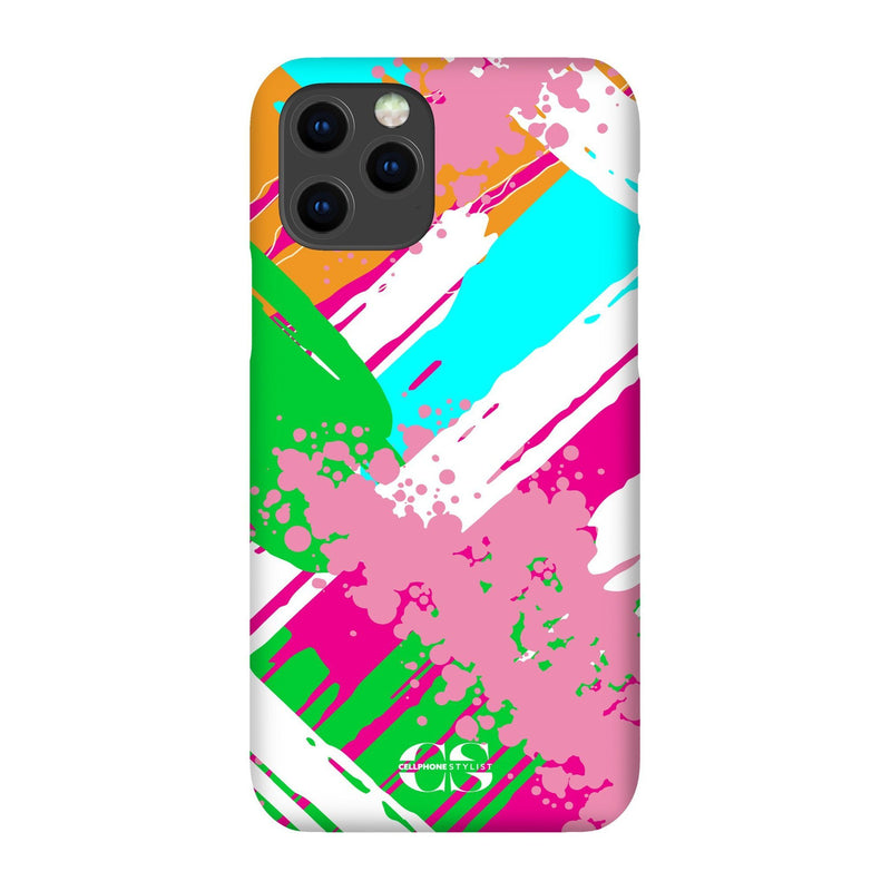 Graffiti Vibes - Bright (iPhone) - Phone Case iPhone 12 Max Snap Gloss - Cellphone Stylist