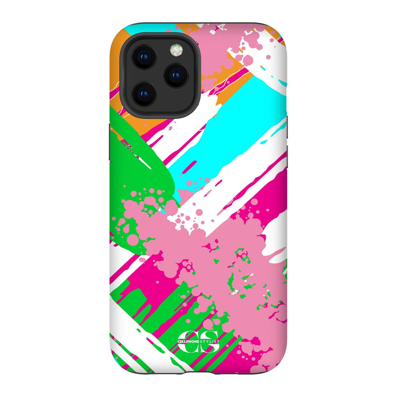 Graffiti Vibes - Bright (iPhone) - Phone Case iPhone 12 Pro Max Tough Matte - Cellphone Stylist