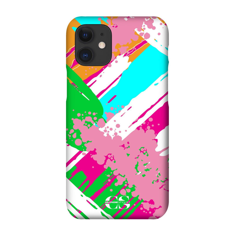 Graffiti Vibes - Bright (iPhone) - Phone Case iPhone 12 Snap Gloss - Cellphone Stylist