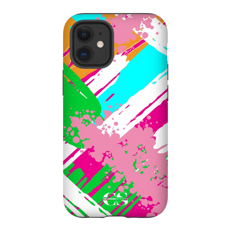 Graffiti Vibes - Bright (iPhone) - Phone Case iPhone 12 Tough Matte - Cellphone Stylist