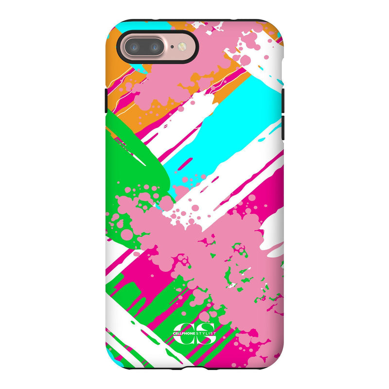 Graffiti Vibes - Bright (iPhone) - Phone Case iPhone 7 Plus Tough Gloss - Cellphone Stylist