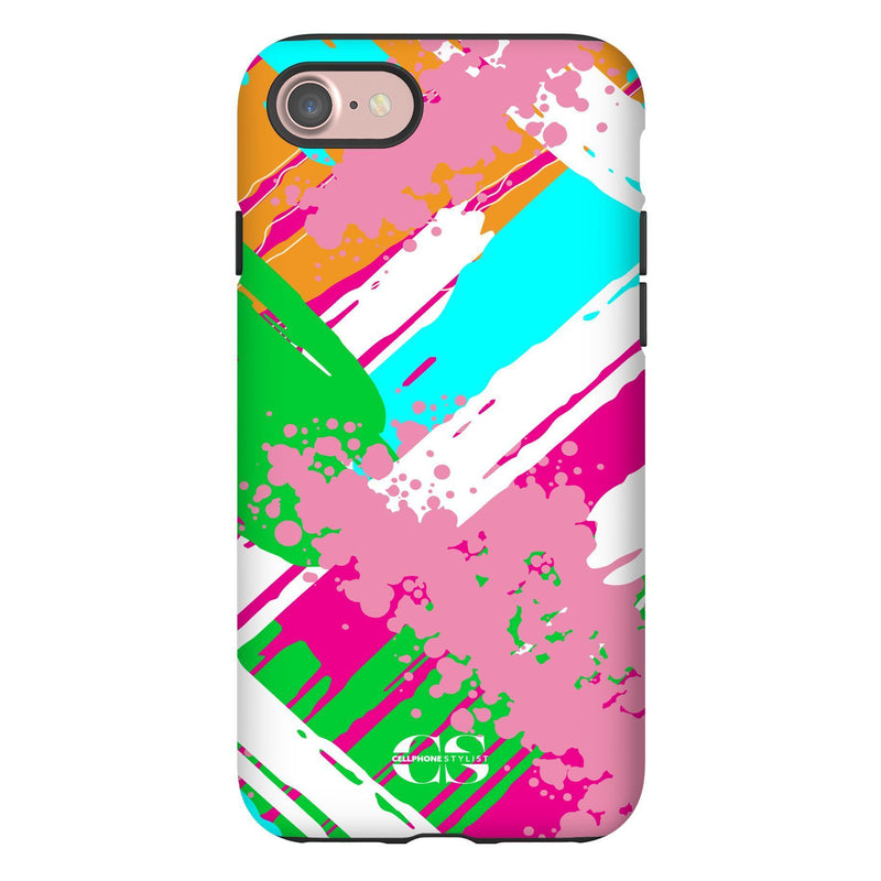 Graffiti Vibes - Bright (iPhone) - Phone Case iPhone 7 Tough Matte - Cellphone Stylist