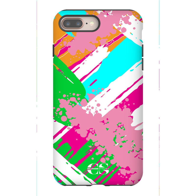 Graffiti Vibes - Bright (iPhone) - Phone Case iPhone 8 Plus Tough Gloss - Cellphone Stylist