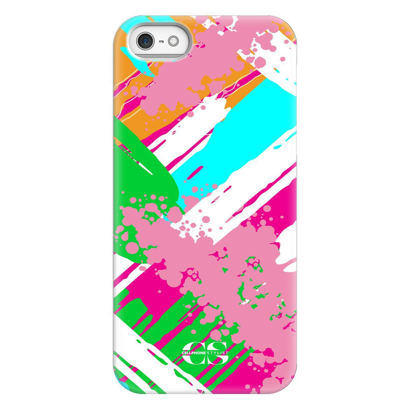Graffiti Vibes - Bright (iPhone) - Phone Case iPhone SE Snap Gloss - Cellphone Stylist