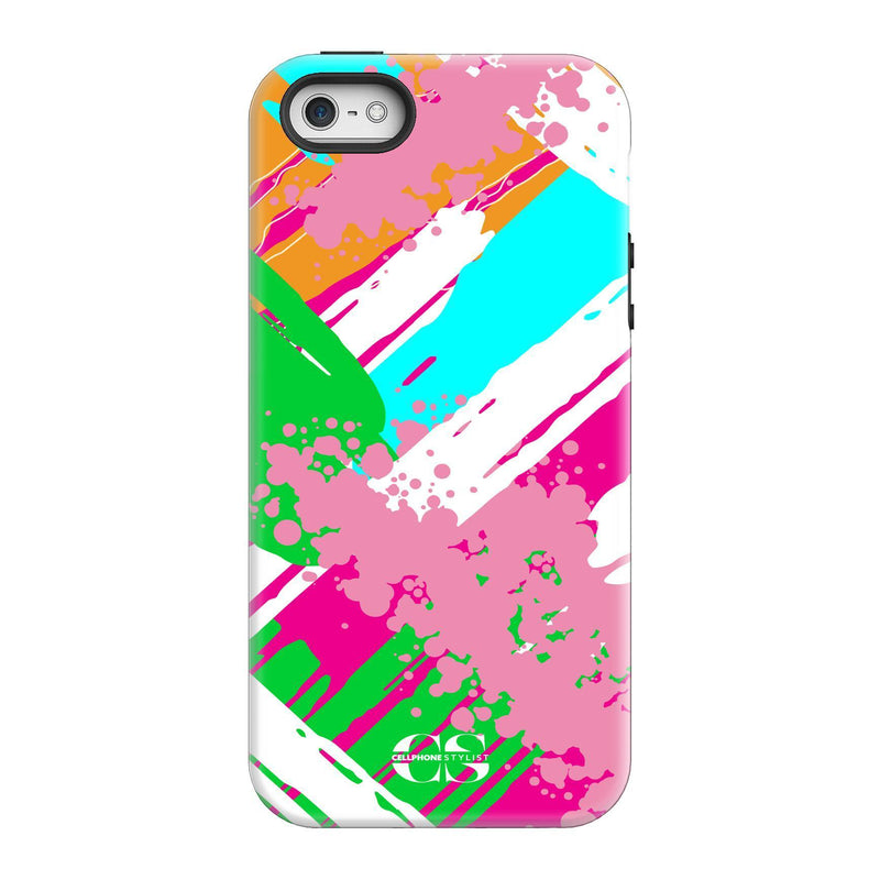 Graffiti Vibes - Bright (iPhone) - Phone Case iPhone SE Tough Gloss - Cellphone Stylist