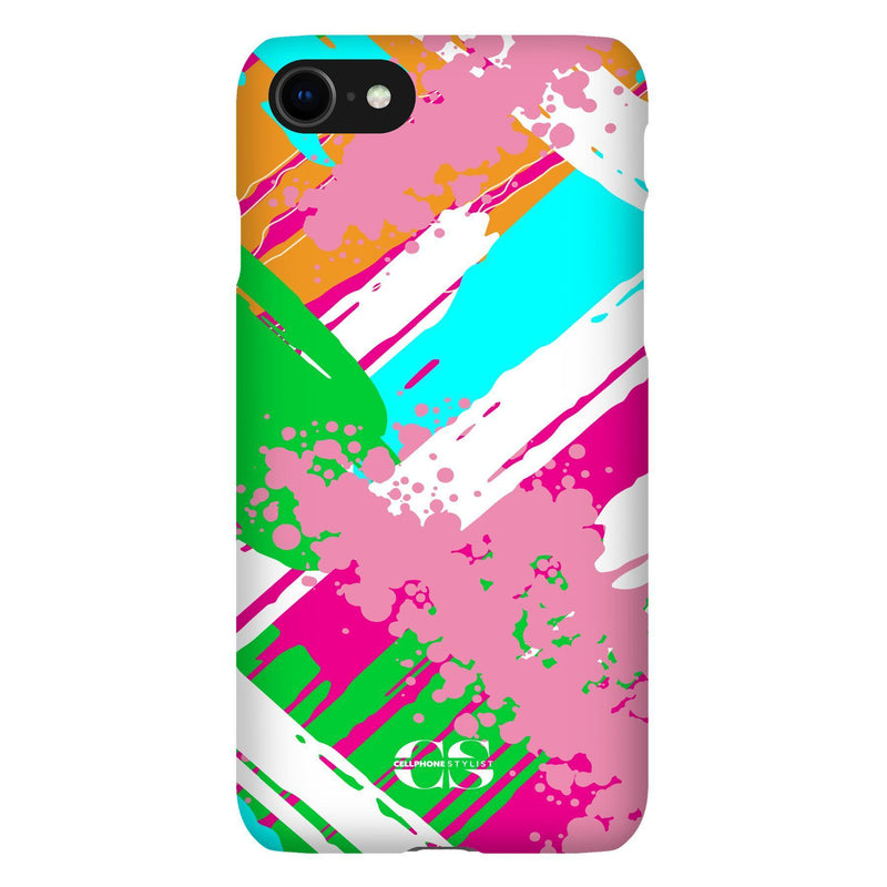 Graffiti Vibes - Bright (iPhone) - Phone Case iPhone SE2 Snap Gloss - Cellphone Stylist
