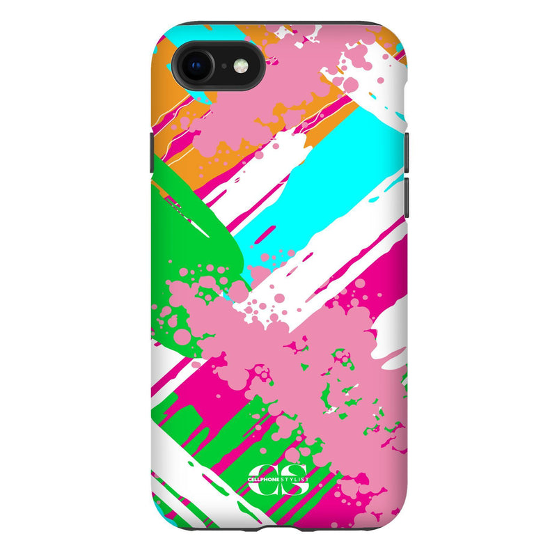 Graffiti Vibes - Bright (iPhone) - Phone Case iPhone SE2 Tough Matte - Cellphone Stylist