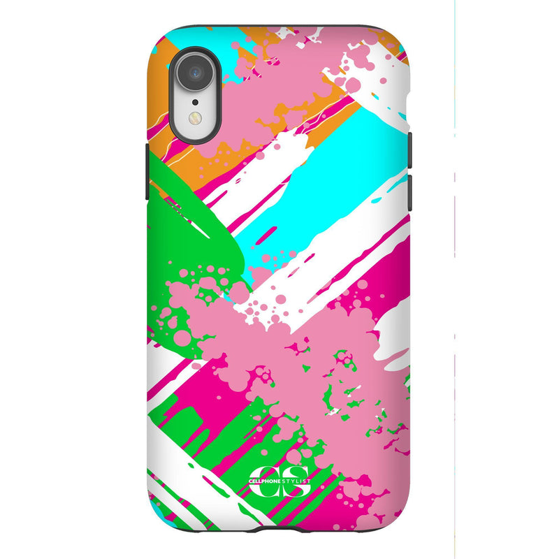 Graffiti Vibes - Bright (iPhone) - Phone Case iPhone XR Tough Matte - Cellphone Stylist