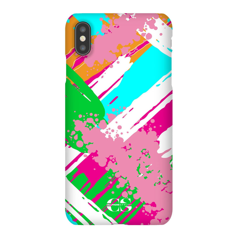 Graffiti Vibes - Bright (iPhone) - Phone Case iPhone XS Max Snap Matte - Cellphone Stylist