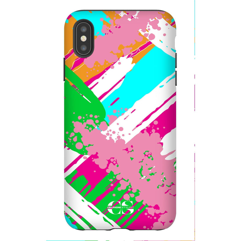 Graffiti Vibes - Bright (iPhone) - Phone Case iPhone XS Max Tough Matte - Cellphone Stylist