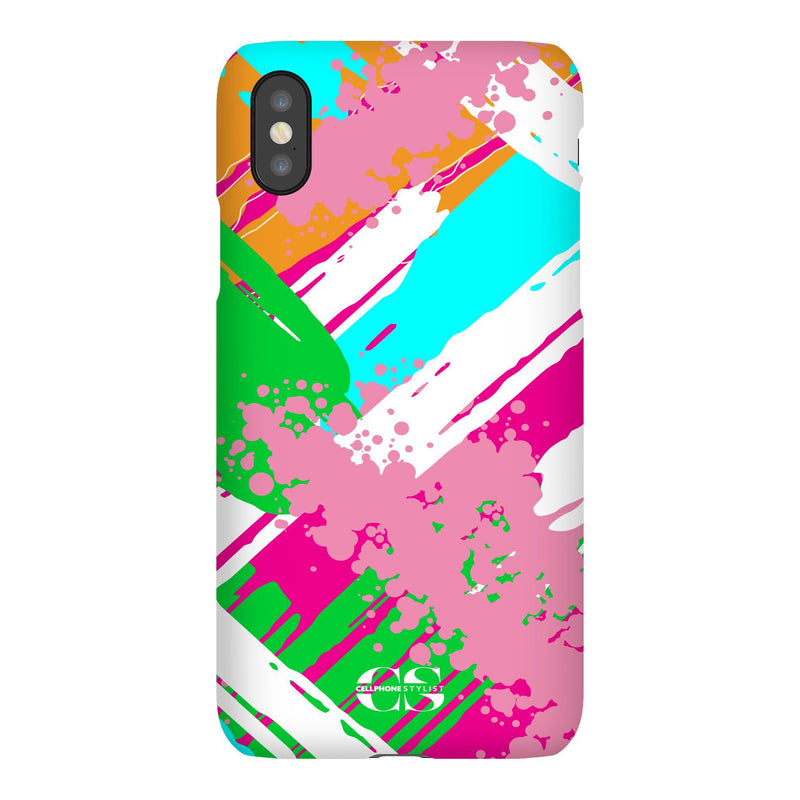 Graffiti Vibes - Bright (iPhone) - Phone Case iPhone XS Snap Gloss - Cellphone Stylist