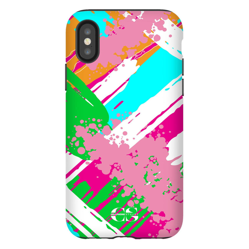 Graffiti Vibes - Bright (iPhone) - Phone Case iPhone XS Tough Gloss - Cellphone Stylist