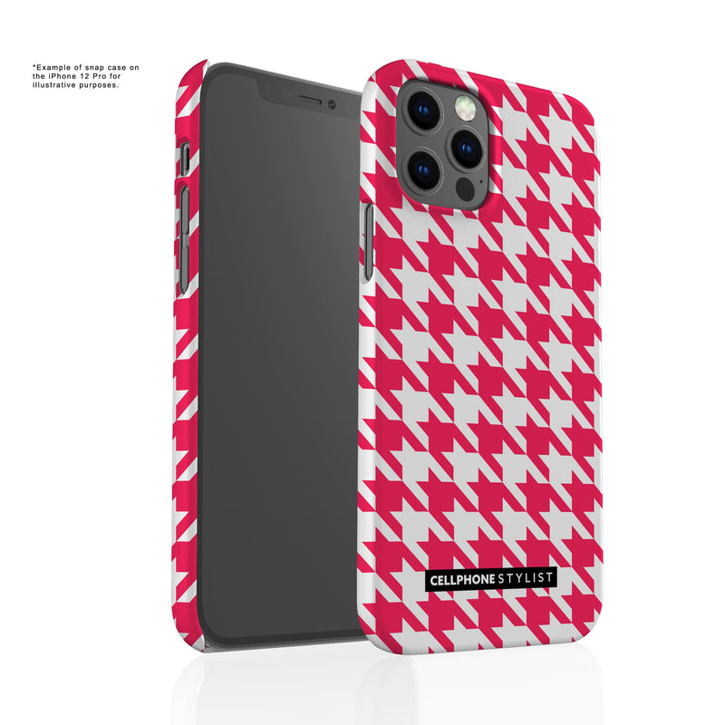 Houndstooth - Pink/White (iPhone) - Phone Case - Cellphone Stylist