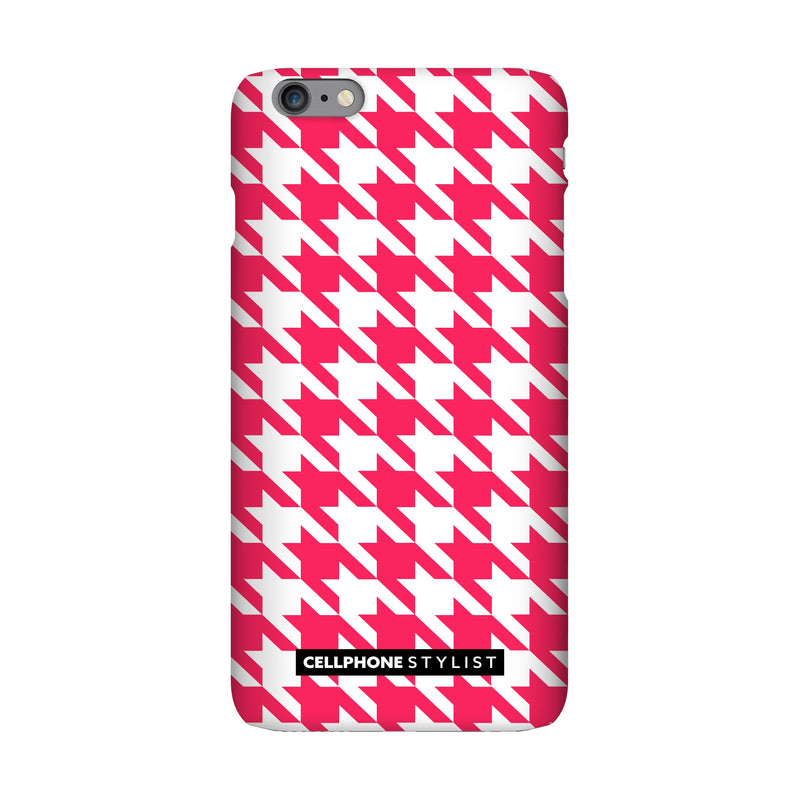 Houndstooth - Pink/White (iPhone) - Phone Case iPhone 6 Pro Snap Gloss - Cellphone Stylist