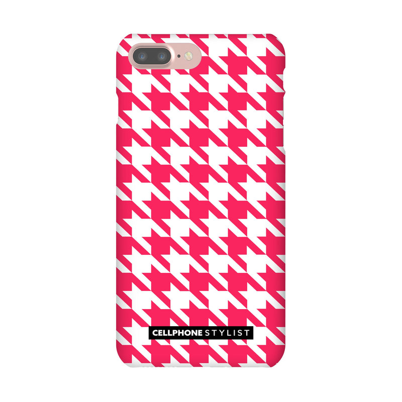 Houndstooth - Pink/White (iPhone) - Phone Case iPhone 7 Pro Snap Gloss - Cellphone Stylist