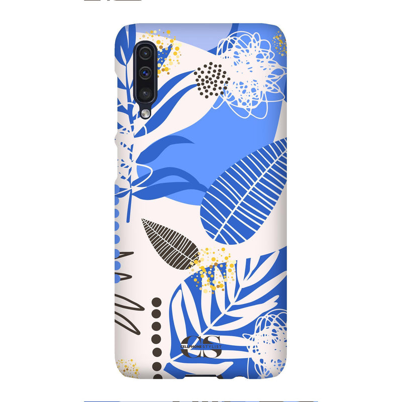 Leaf Me Alone - Blue (Galaxy) - Phone Case Galaxy A50 Snap Matte - Cellphone Stylist