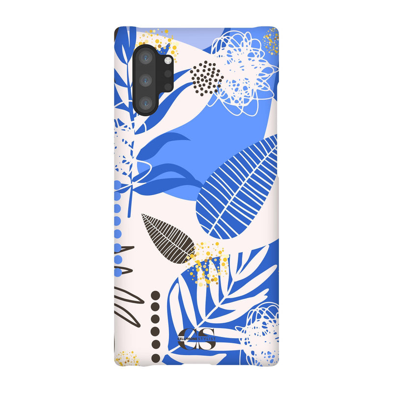 Leaf Me Alone - Blue (Galaxy) - Phone Case Galaxy Note 10 Plus Snap Gloss - Cellphone Stylist