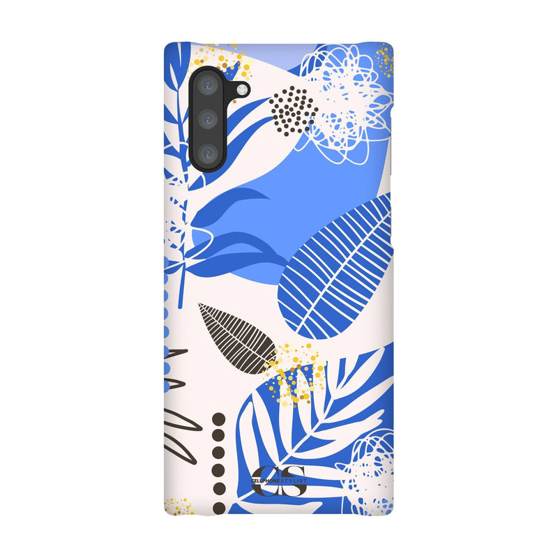 Leaf Me Alone - Blue (Galaxy) - Phone Case Galaxy Note 10 Snap Matte - Cellphone Stylist