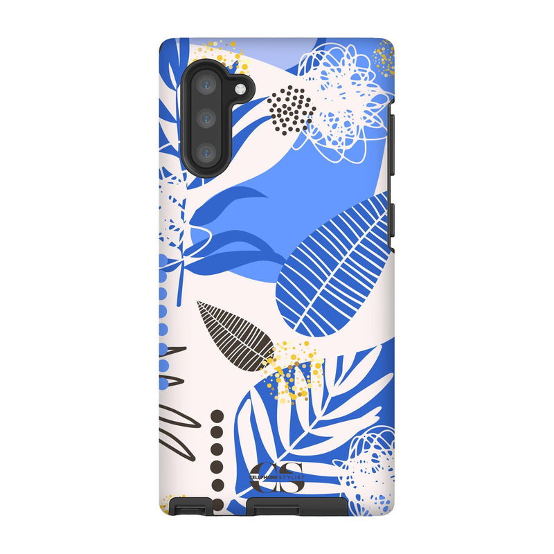 Leaf Me Alone - Blue (Galaxy) - Phone Case Galaxy Note 10 Tough Matte - Cellphone Stylist