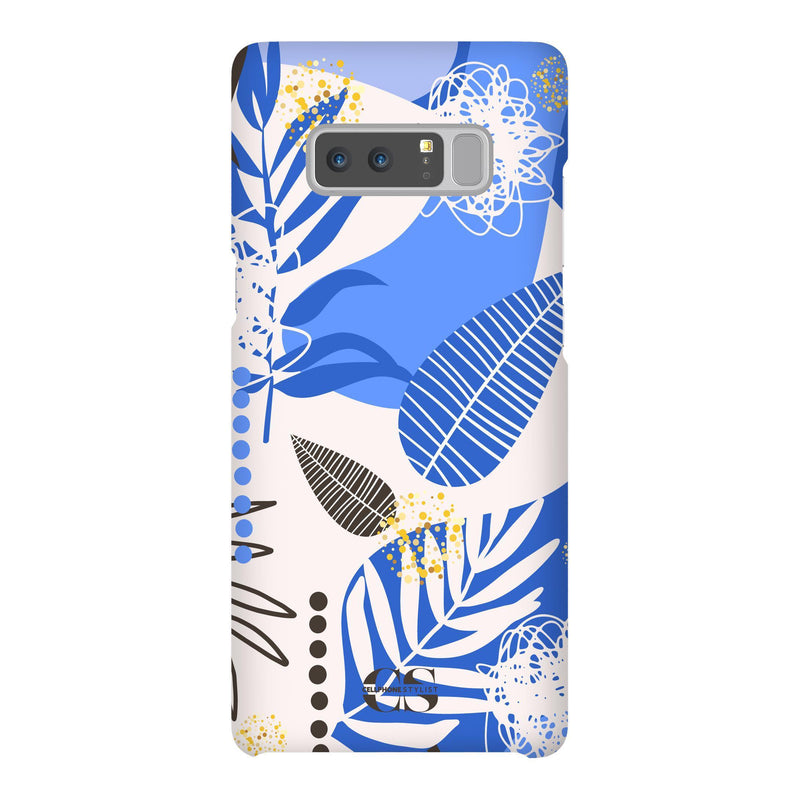 Leaf Me Alone - Blue (Galaxy) - Phone Case Galaxy Note 8 Snap Gloss - Cellphone Stylist