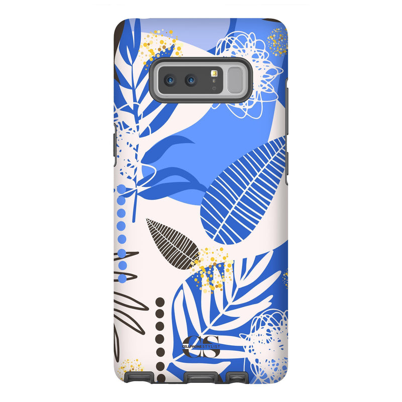 Leaf Me Alone - Blue (Galaxy) - Phone Case Galaxy Note 8 Tough Matte - Cellphone Stylist