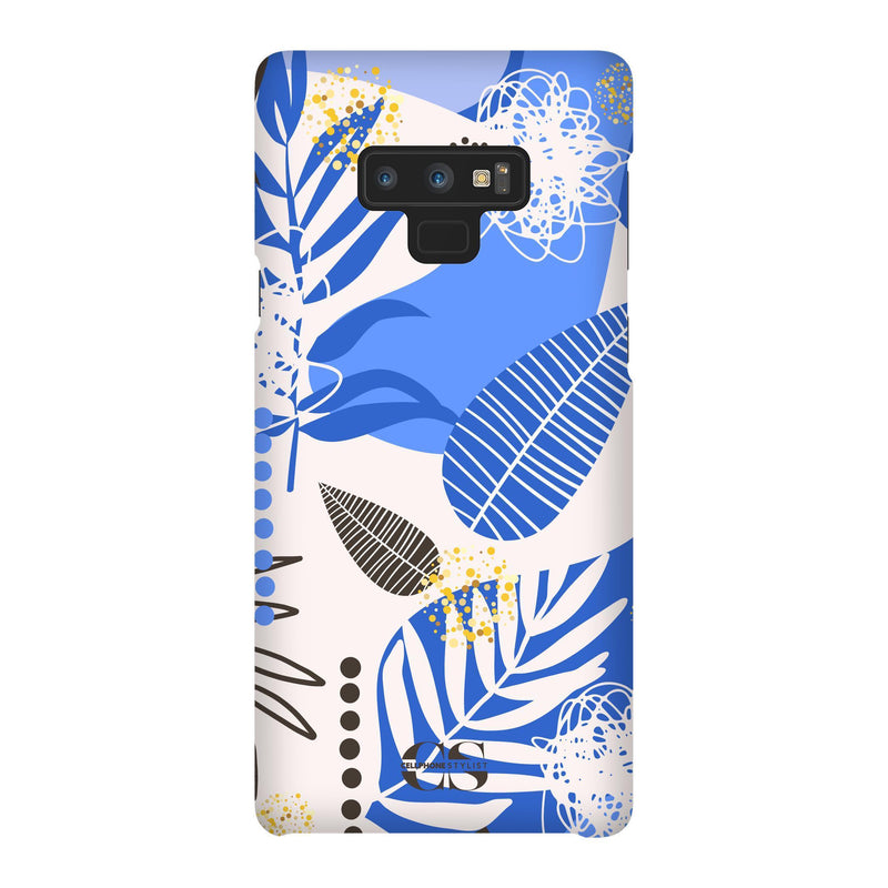 Leaf Me Alone - Blue (Galaxy) - Phone Case Galaxy Note 9 Snap Matte - Cellphone Stylist
