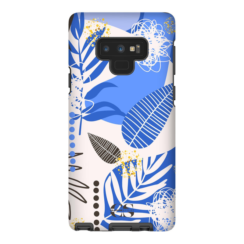 Leaf Me Alone - Blue (Galaxy) - Phone Case Galaxy Note 9 Tough Matte - Cellphone Stylist