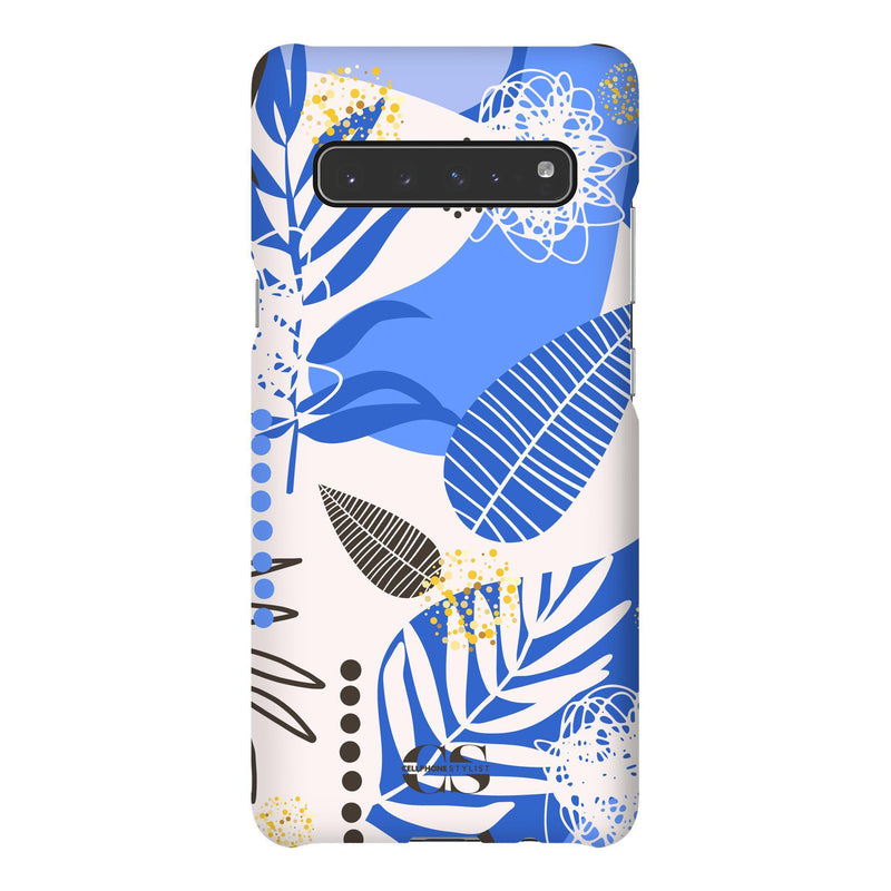 Leaf Me Alone - Blue (Galaxy) - Phone Case Galaxy S10 5G Snap Matte - Cellphone Stylist