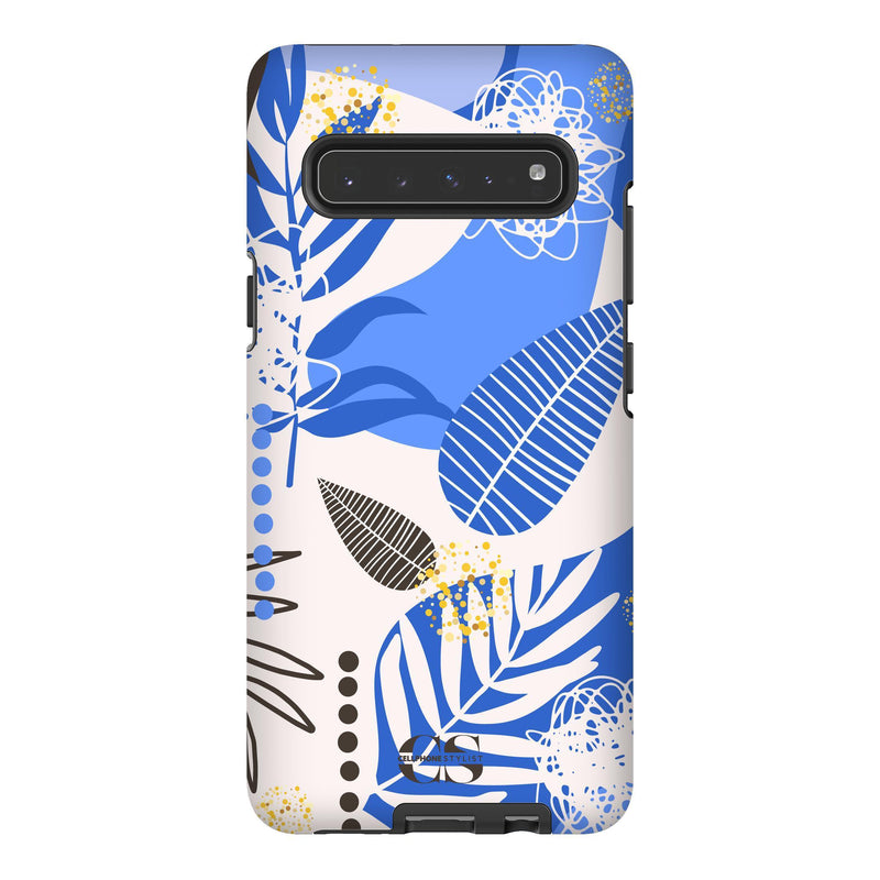 Leaf Me Alone - Blue (Galaxy) - Phone Case Galaxy S10 5G Tough Matte - Cellphone Stylist