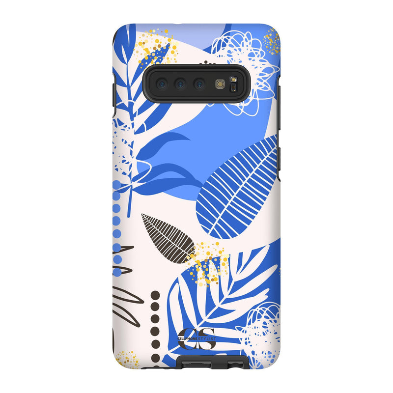 Leaf Me Alone - Blue (Galaxy) - Phone Case Galaxy S10 Plus Tough Gloss - Cellphone Stylist