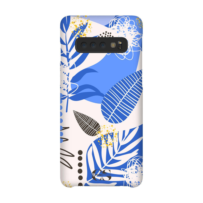 Leaf Me Alone - Blue (Galaxy) - Phone Case Galaxy S10 Snap Matte - Cellphone Stylist