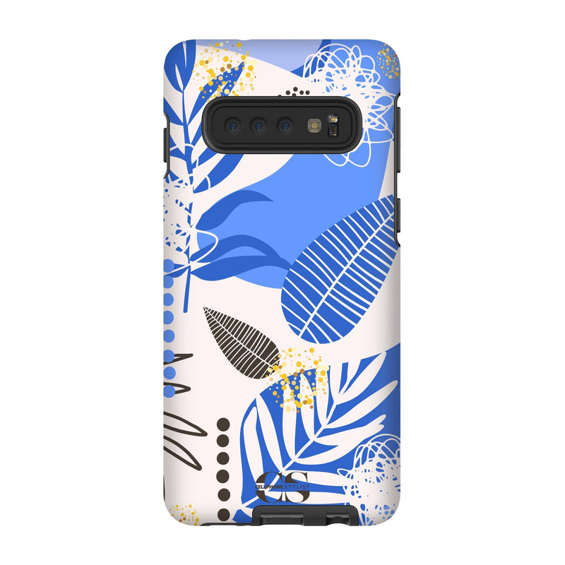 Leaf Me Alone - Blue (Galaxy) - Phone Case Galaxy S10 Tough Gloss - Cellphone Stylist