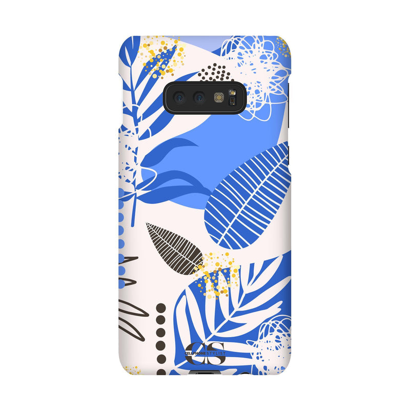 Leaf Me Alone - Blue (Galaxy) - Phone Case Galaxy S10E Snap Matte - Cellphone Stylist