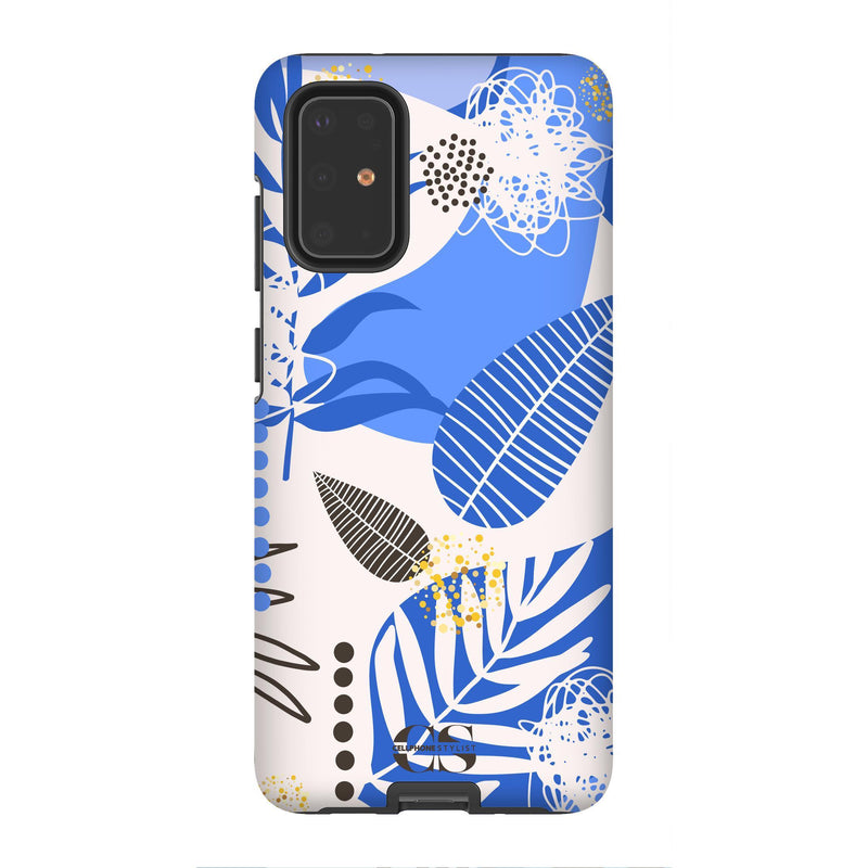 Leaf Me Alone - Blue (Galaxy) - Phone Case Galaxy S20 Plus Tough Gloss - Cellphone Stylist