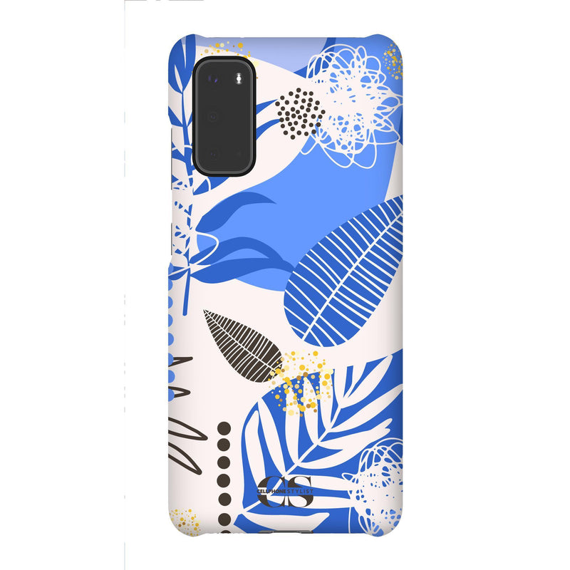 Leaf Me Alone - Blue (Galaxy) - Phone Case Galaxy S20 Snap Matte - Cellphone Stylist