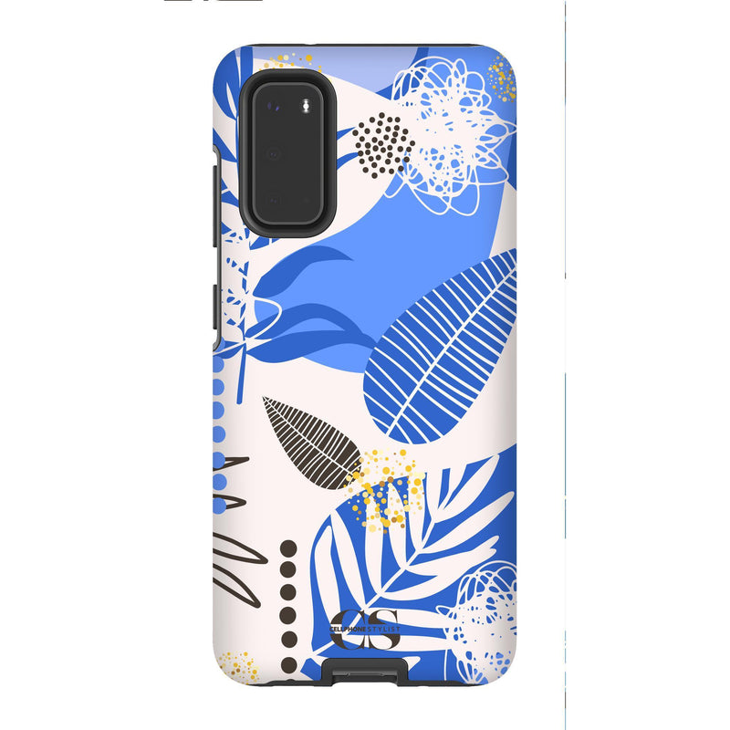 Leaf Me Alone - Blue (Galaxy) - Phone Case Galaxy S20 Tough Matte - Cellphone Stylist