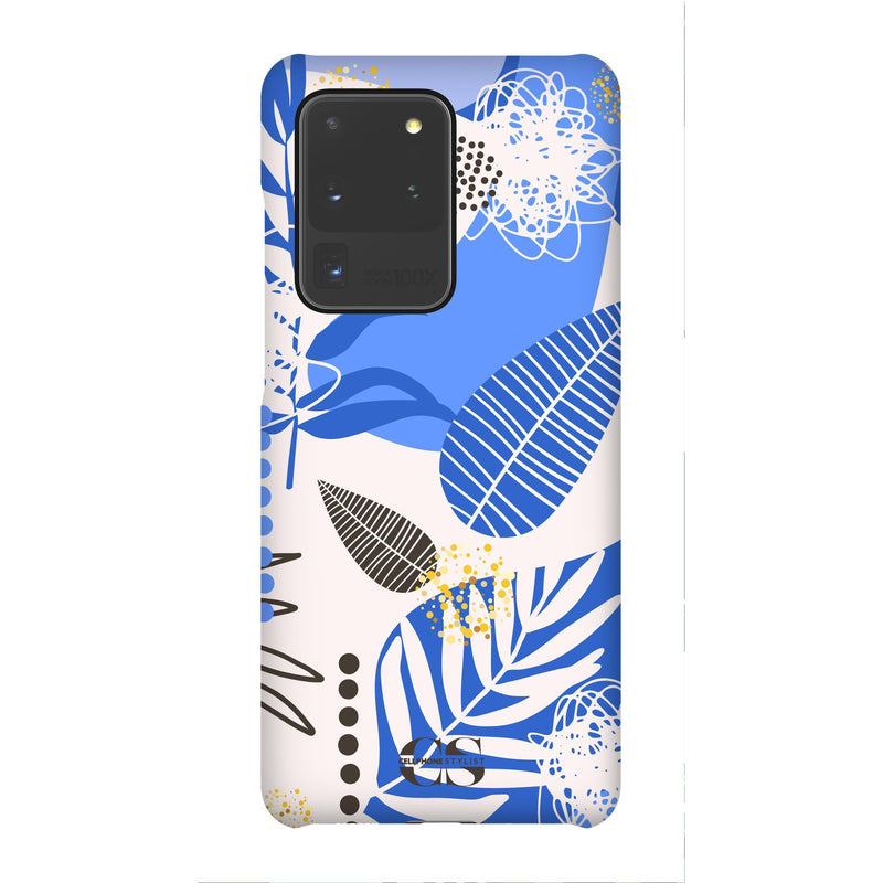 Leaf Me Alone - Blue (Galaxy) - Phone Case Galaxy S20 Ultra Snap Matte - Cellphone Stylist