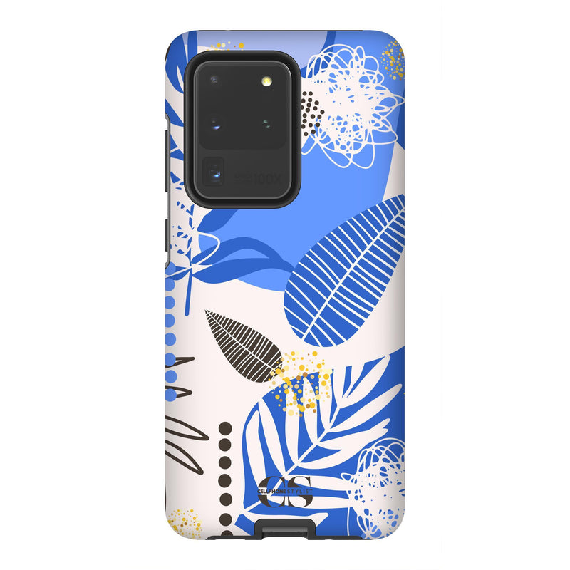 Leaf Me Alone - Blue (Galaxy) - Phone Case Galaxy S20 Ultra Tough Gloss - Cellphone Stylist