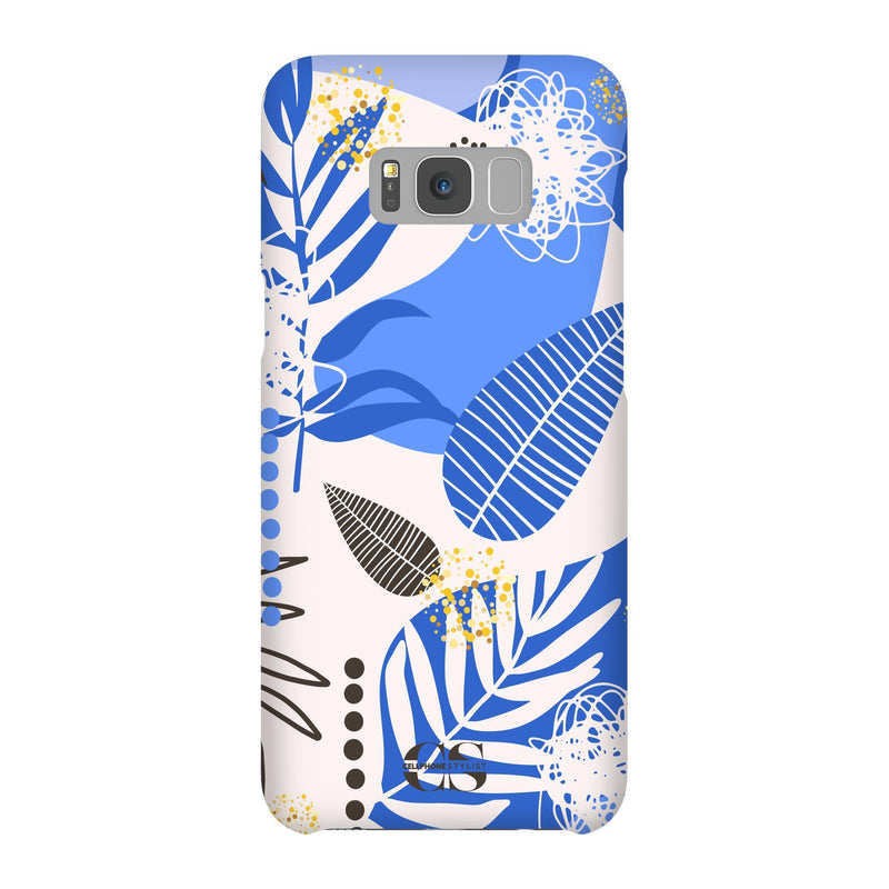 Leaf Me Alone - Blue (Galaxy) - Phone Case Galaxy S8 Plus Snap Matte - Cellphone Stylist