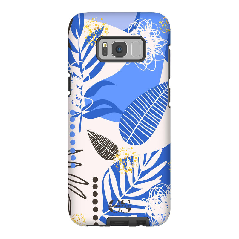 Leaf Me Alone - Blue (Galaxy) - Phone Case Galaxy S8 Plus Tough Gloss - Cellphone Stylist
