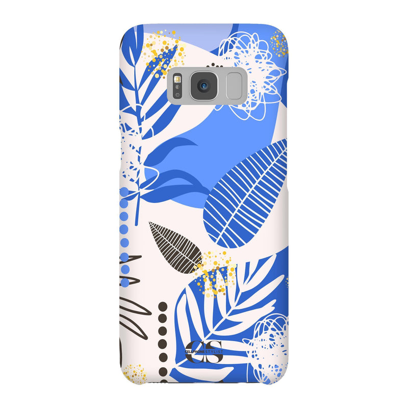 Leaf Me Alone - Blue (Galaxy) - Phone Case Galaxy S8 Snap Matte - Cellphone Stylist
