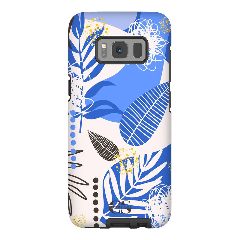 Leaf Me Alone - Blue (Galaxy) - Phone Case Galaxy S8 Tough Matte - Cellphone Stylist