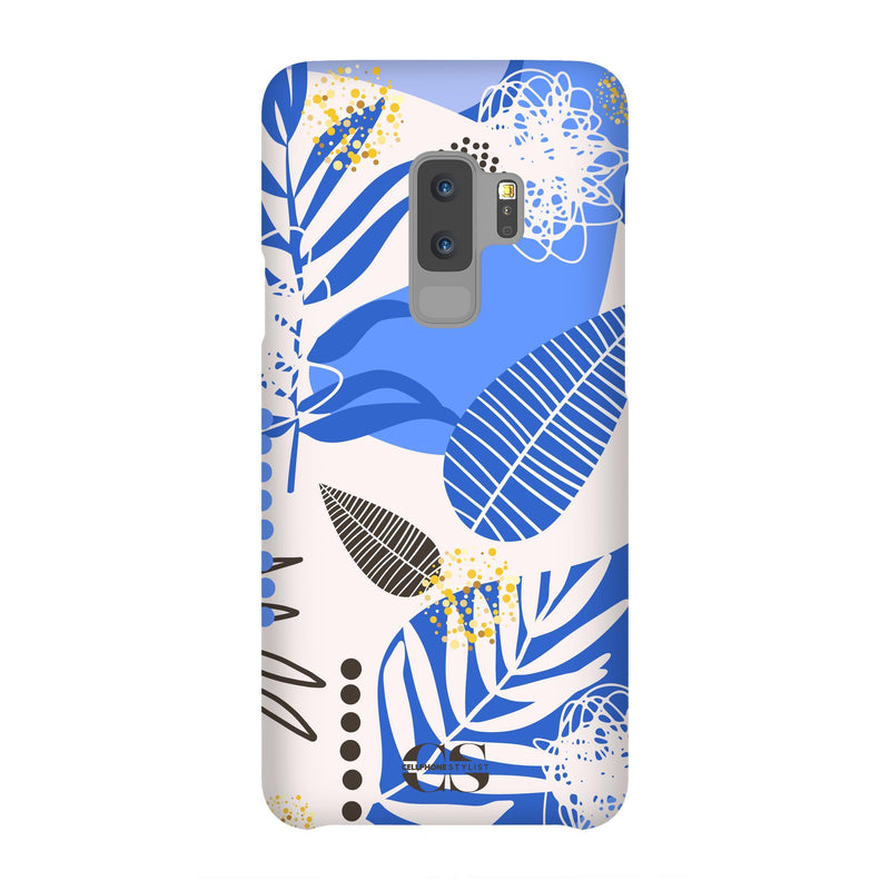 Leaf Me Alone - Blue (Galaxy) - Phone Case Galaxy S9 Plus Snap Matte - Cellphone Stylist